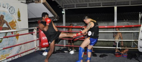 Deepak training with the Asian Champion in Thailand