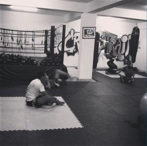 Jiu Jitsu training drills at Crosstrain