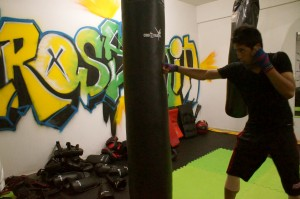 A member shadow boxing at Crosstrain (CFC)